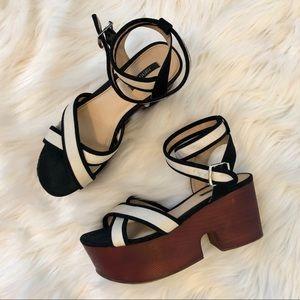 Forever 21 Platform Sandals with Ankle Straps